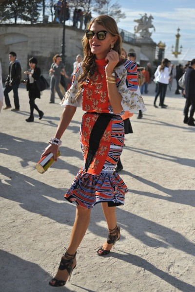 Print, color clash, embellishment and ruffles - Anna Dello Russo you're our hero!