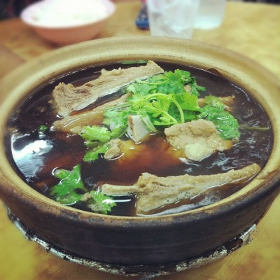 Claypot Bak Kut Teh (pork rib soup) in Joo Chiat #sg #foodstagram #singapore #delicious #pork #yum #food #foodporn  (Taken with Instagram)