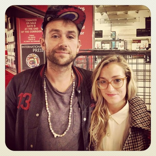 #paris DAMON ALBARN of the #BLUR at the station! #paris #london #blur (Scattata con Instagram)