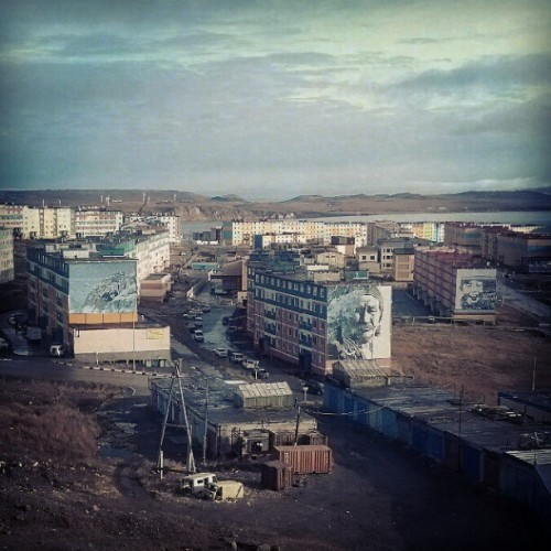 Anadyr. Capital of Chukotka. #Chukotka #Anadyr #town #capital #house #art #Russia #far #north #center #district #view #porusski #photomania #instaddict  (Taken with Instagram at Анадырь)