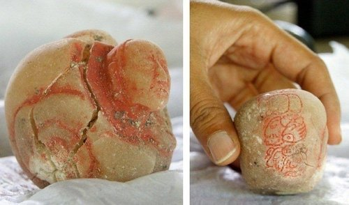 "Tiny jar identifies mighty Maya queen (Photo: El Peru-Waka Regional Archaeological Project) Glyphs carved into a tiny alabaster jar have led archaeologists to conclude that the tomb in Guatemala where the jar was found belonged to one of the greatest queens of the Classic Maya civilization, known as Lady K'abel. ""She was not only a queen, but a supreme warlord, and that made her the most powerful person in the kingdom during her lifetime,"" David Freidel, an archaeologist at Washington University in St. Louis, said in a report released today. Read the complete story."