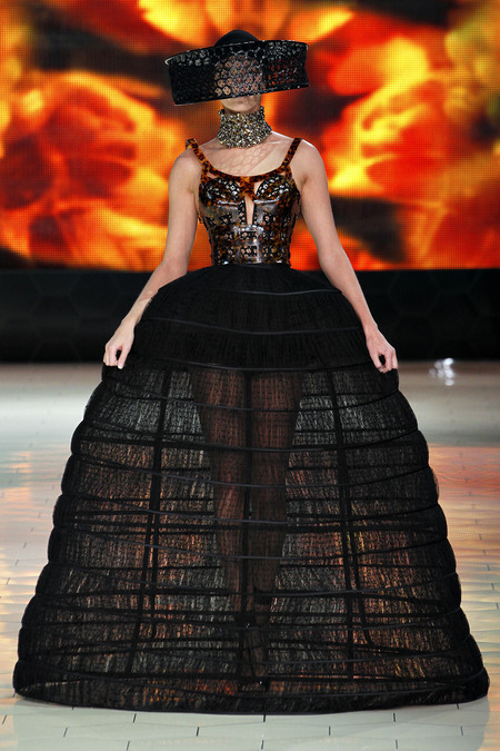 Alexander McQueen's gorgeous and elaborate gown on the runway.