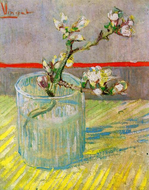Blossoming Almond Branch in a Glass Van Gogh