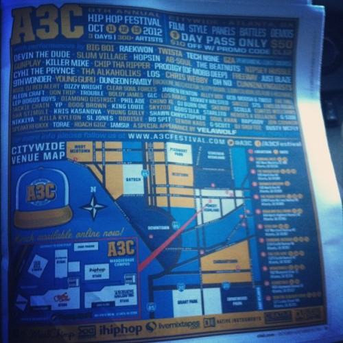 Full page @A3C in @Cl_Atlanta (Taken with Instagram)