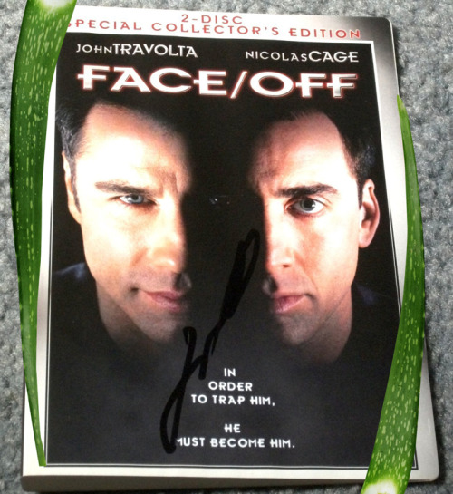 Signed Face/Off DVD (2-Disc Special Collector´s Editions) with Aloe Vera, 2012 Sculpture @