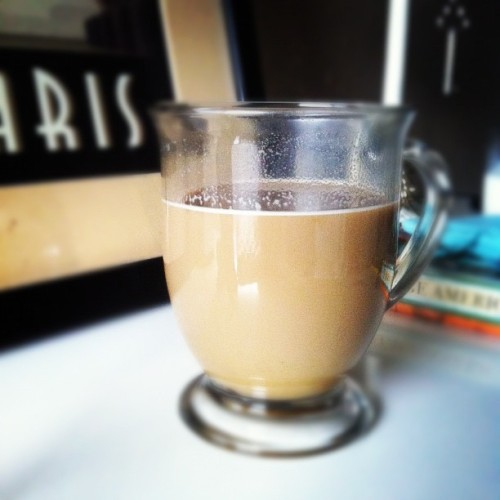 Pumpkin spice latte in my new bedroom :) #lifemeasuredincoffee (Taken with Instagram)