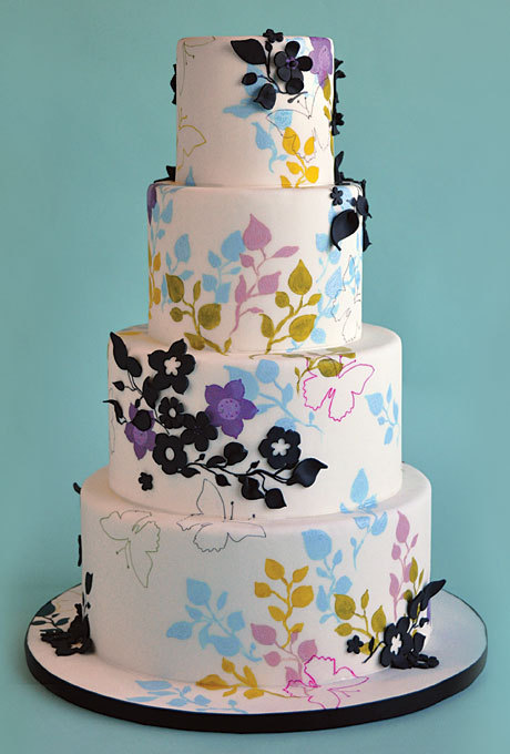 Love this wedding cake design…