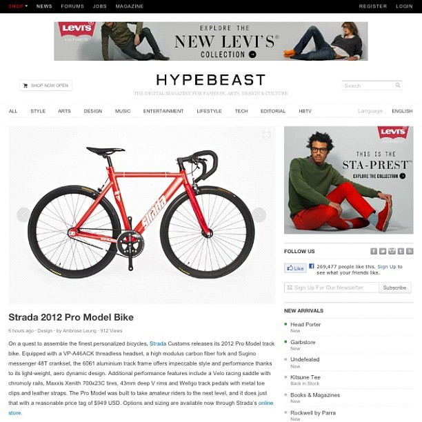Peep the Strada 2013 pro model featured on #hypebeast #stradatrackpro #stradacustoms  (Taken with Instagram)