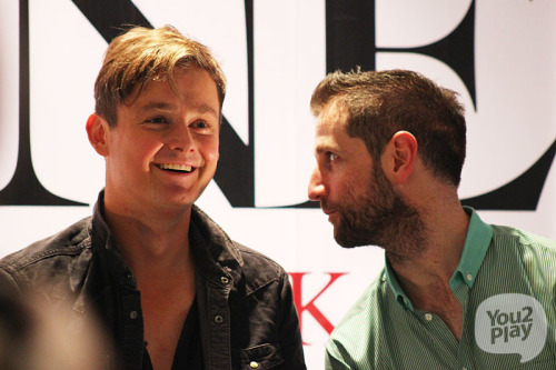 Tom & Richard having fun at the Strangeland Press Conference in Bankok earlier today. Source: You2Play