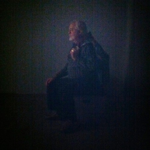 Man watching film. (Taken with Instagram at Edvard Munch @Tate Modern)