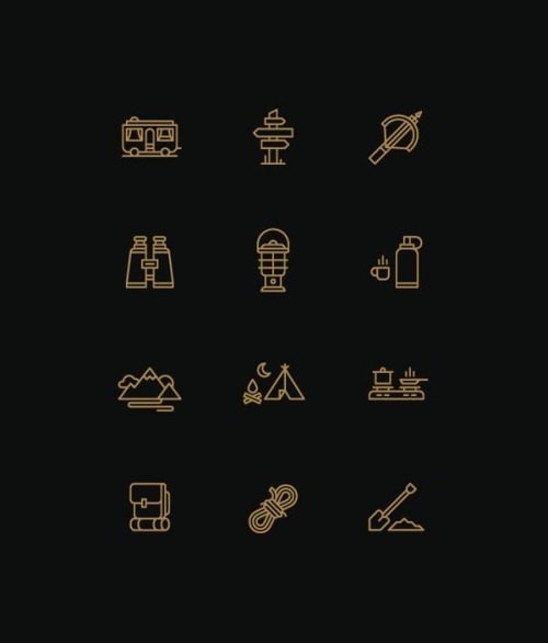 Icon Design A selection of symbolic icon designs by graphic designer and illustrator Tim Boelaars. more on WE AND THE COLORFacebook // Twitter // Google+ // Pinterest