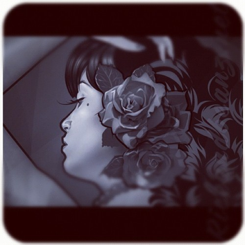 Work in progress Boricua Pinup portrait commission for @lareinamunoz from Puerto Rico now living in Switzerland. #wip #Pinup #portrait #PuertoRico #Boricua #Switzerland #commission #art #illustration #riceandbeanz  (Taken with Instagram)