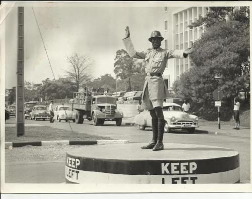 Point duty Kampala Road, circa 1960, Uganda (via History in Progress Uganda)