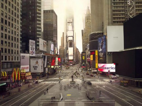 Times square. Silent world photo by Lucie & Simon