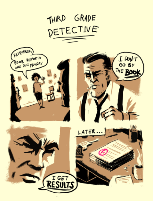 ollymoss:  Scribbled some Detective Comics this lunchtime.