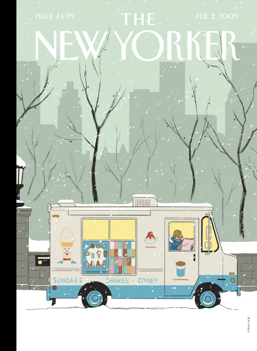 Adrian Tomine, New Yorker cover (2 February 2009)