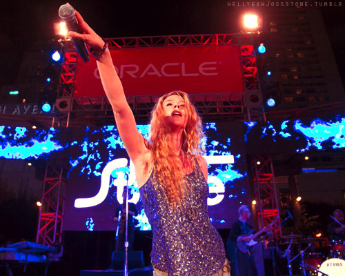 Joss Stone live at Oracle Open World Festival.
