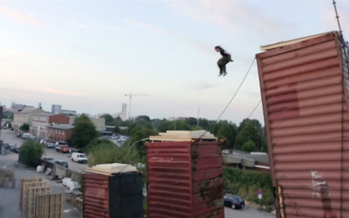 laughingsquid:  Human-Powered Freerunning Rube Goldberg Machine