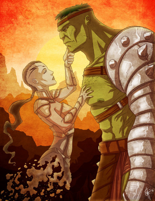 Planet Hulk by Jefftoon