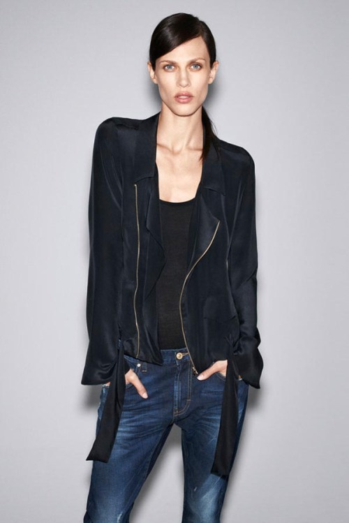 Zara October lookbook staring Ameline Valade. -Becky Malinsky