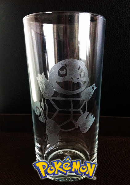 Squirtle Etched Highball Glassby Curaja - $16.55 (Perfect for Squirtle, Wartortle, and Blastoise drinks)