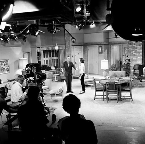 nineteen-fifty-four:  Dick Van Dyke and Mary Tyler Moore on the set of The Dick Van Dyke Show.
