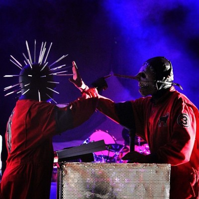 slipknot:  Craig and Chris. #5 #3 #knotfest [Photo: Randy Blythe] (Taken with Instagram)