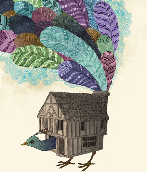 eatsleepdraw:  Birdhouse revisted