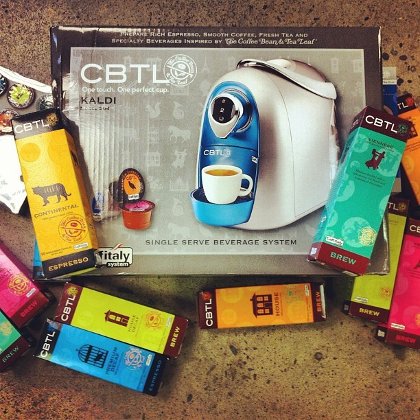 We received an awesome gift today from one of our new clients! #coffee #cbtl (Taken with Instagram at Jolby & Friends HQ)