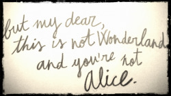 you're not alice♥