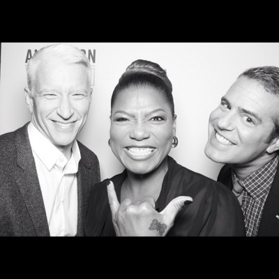 "Anderson Cooper: ""A very funny show today with Andy Cohen and Queen Latifah #AndersonLive"" [via Instagram]"
