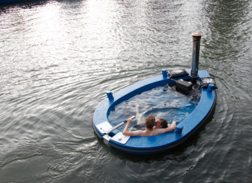 laughingsquid:  HotTug, A Wood-Fired Hot Tub Boat