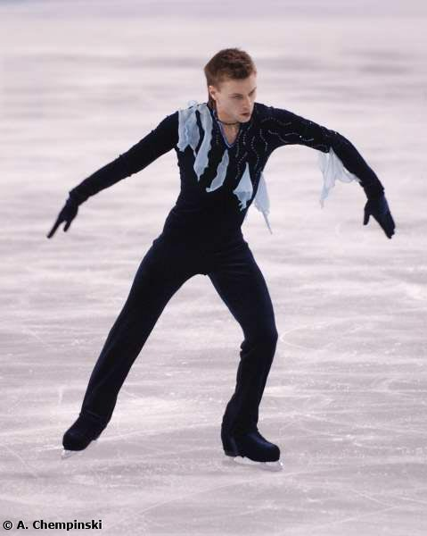 Sergei Davydov and his dangly scraps at the 2006 World Championships.