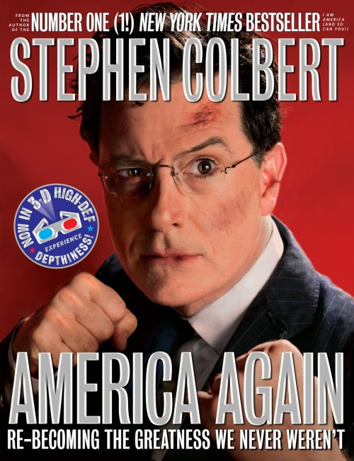 "Stephen Colbert on the message his new book ""America Again"" explores:  That sort of paradoxical statement that our greatest days are ahead of us and we have the greatest history and the history of history, but this instant right now is completely screwed up and we've got to save America from disaster."