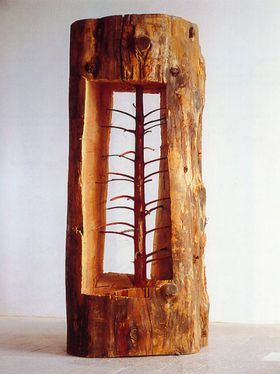 Young trees carved within old trees by Giuseppe Penone