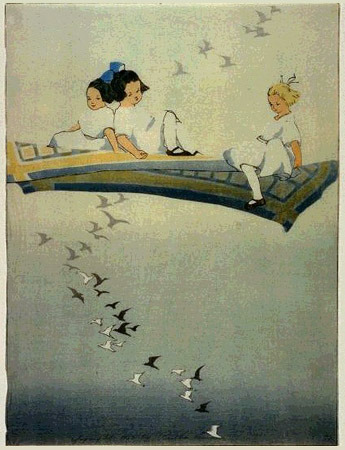 Bertha Lum (via hanga gallery … torii gallery: Magic Carpet by Bertha Lum)