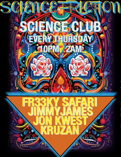 TONIGHT! Get to Science Club for Science Friction with special guest Steve Starks! Tonight's residents are Jon Kwest and our own Clown Prince! $7 Yuengling + Tequila/Rye and $3 PBRs all night! Come catch the vybz