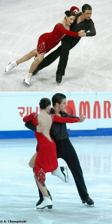 Tessa Virtue and Scott Moir skating the Argentine Tango at the 2008 World Championships. Sources: http://3.bp.blogspot.com/_GRmR_5ATRcI/SWzojMPgwwI/AAAAAAAAAPc/nMdDjJubIUU/s1600/worlds0708cd01.jpg http://www.scratchspin.com/2008/worlds08/08010446.jpg