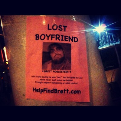 #helpfindbrett poster outside the spot  (Taken with Instagram at Windward Circle)