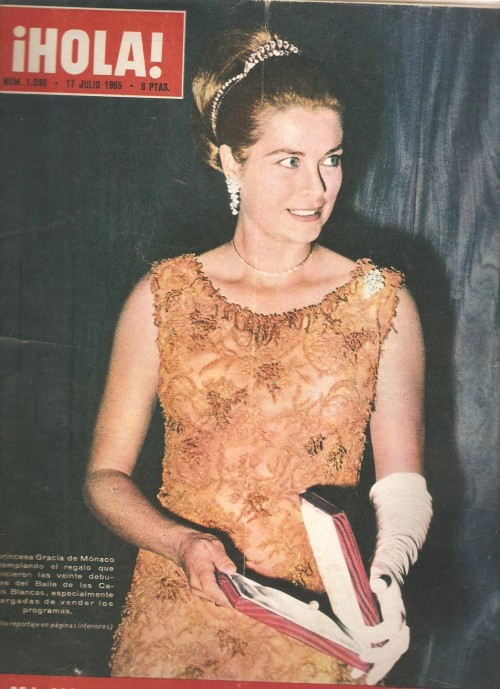 graceandfamily:  HOLA (1965)  OMG!  And this tiara… from this picture too:  Where is this one now?  Or is this her regular diamond tiara with a larger attachment?