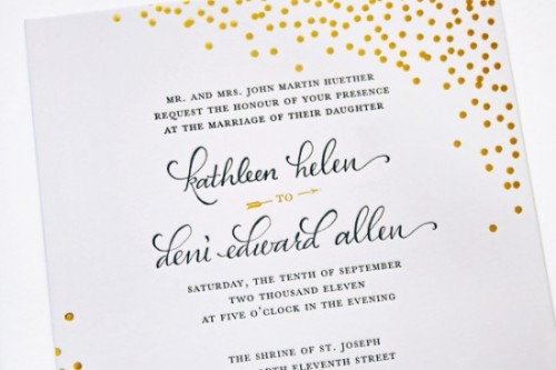 Gorgeous wedding invite!