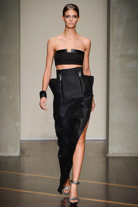 Kendra Spears at Gianfranco Ferre, spring 2013