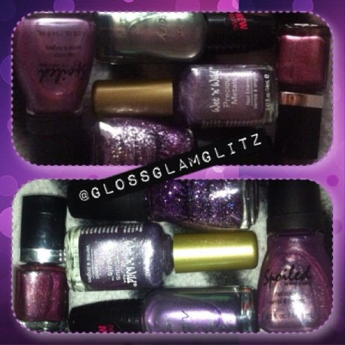 Purple: polish! Just the ones from my fist box of polishes. ☺ 💜 #beauty #benailed #bestoftheday #cute #day4 #girly #glitter #hautelook #HLphotoaday #instagood #instamood #instanails #jj #jj_forum #kawaii #love #nailart #nailpolish #nailpolishaddict #nails #nailstagram #octoberphotoaday #octoberphotochallenge #potd #photoadayoctober #purple #polish #polishaddict #spoiled #sinfulcolors #wetnwild  (Taken with Instagram)