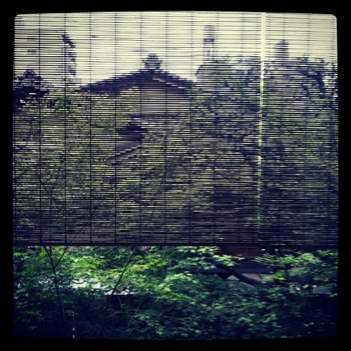 The view from my room. The Tawaraya Inn, Kyoto, Japan. October 2012 - Francisco Costa (Taken with Instagram)