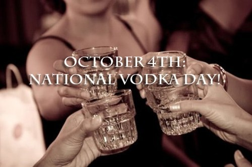 thedailywhat:  Happy National Vodka Day of the Day: In keeping with our strict observance of all drinking-related holidays, we wish you a fruitful and productive National Vodka Day. After all — it's the most popular liquor in RussiaAmerica and deserves to be celebrated as such. Nostrovia! [after12]  yessssssssssssssssssss