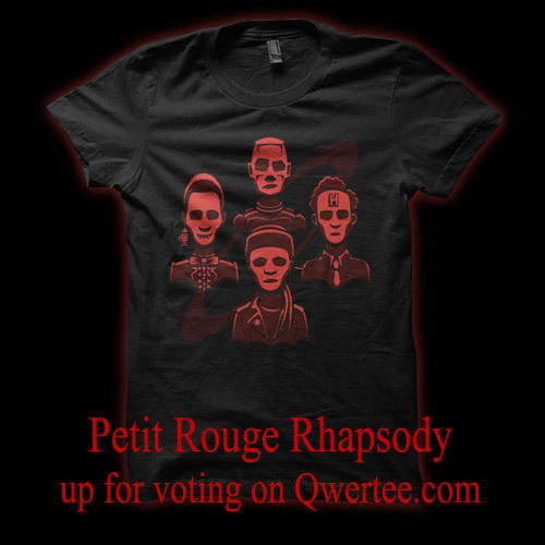 doodledojo:  Petit Rouge Rhapsody is up for voting on Qwertee.com. Give it a vote and it might get printed before the end of the new series. Doodle Dojo | Facebook
