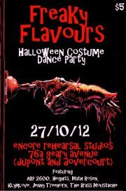 Freaky Flavours is going to be a sweet, very Dragnet-affiliated, Halloween good time. Dj's include: Math Rosen, Klymlove, Jenny Treehorn, and The Brass Moustache, among other non-Dragnet associates. Also, no one would be sad if you dressed up as Uncle Dragnet. Just sayin.