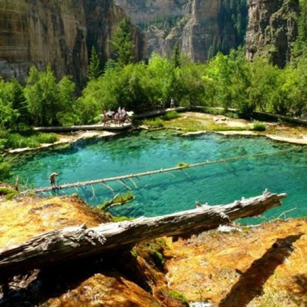 Rick Strandlof's #healingplaces: Colorado's Hanging Lake (Taken with Instagram)