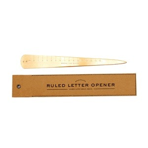 Letter opener - As regular receivers of handwritten notes, we still get giddy every time we open our mailbox. And there's no better tool for preventing paper cuts and preserving manicures than this beautiful letter opener from Izola.