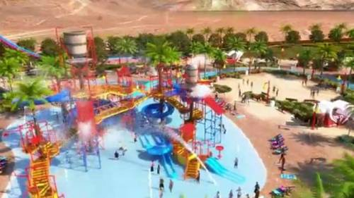 "Yet-to-be built water park in southwest Las Vegas to resurrect ""Wet 'N' Wild"" name."